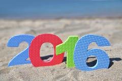 Año Nuevo número 2016 Fotografía de archivo libre de regalías