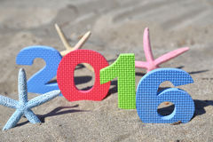 Año Nuevo número 2016 Foto de archivo libre de regalías