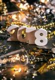 Año Nuevo: Números de Staggared para NYE 2018 Foto de archivo libre de regalías