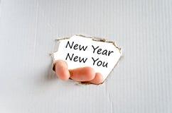 Año Nuevo nuevo usted concepto del texto Imágenes de archivo libres de regalías