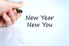 Año Nuevo nuevo usted concepto del texto Imagen de archivo libre de regalías