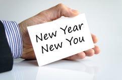 Año Nuevo nuevo usted concepto del texto Foto de archivo