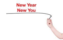 Año Nuevo nuevo usted redacta Fotografía de archivo