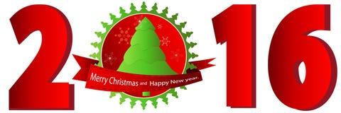 Año Nuevo 2016 Numera rojo Imagen de archivo libre de regalías