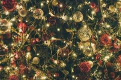 Año Nuevo o decoración e iluminación de la Navidad Foto de archivo