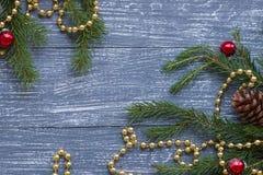Año Nuevo o papel pintado de la Navidad Imagenes de archivo