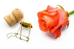 Año Nuevo o santo Valentine Rose Fotografía de archivo libre de regalías