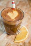 Año Nuevo Papá Noel del café caliente Fotos de archivo