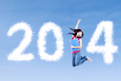 Año Nuevo 2014 para el estudiante Imagen de archivo libre de regalías