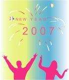 Año Nuevo - partido del carnaval Libre Illustration