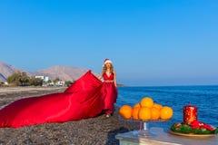 Año Nuevo por el mar Imágenes de archivo libres de regalías