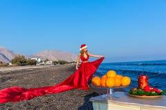 Año Nuevo por el mar Fotos de archivo libres de regalías