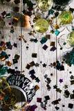 Año Nuevo: Porciones de Copyspace con NYE Crown Imágenes de archivo libres de regalías