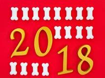 Año Nuevo propicio 2018 Imagen de archivo libre de regalías
