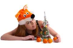 Año Nuevo que celebra el modelo Fotos de archivo