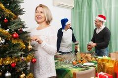 Año Nuevo que celebra en casa Foto de archivo libre de regalías