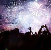Año Nuevo que espera de la muchedumbre para Fotografía de archivo libre de regalías