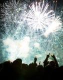 Año Nuevo que espera de la muchedumbre para Imágenes de archivo libres de regalías