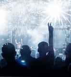 Año Nuevo que espera de la muchedumbre para Fotos de archivo libres de regalías