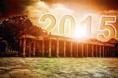 Año Nuevo 2015 que sube Fotografía de archivo