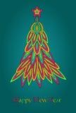 Año Nuevo retro Imagen de archivo libre de regalías