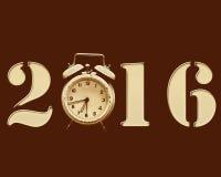 Año Nuevo retro 2016 imagen de archivo libre de regalías