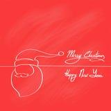 Año Nuevo rojo de Santa Claus Hat Merry Christmas Happy Imagenes de archivo