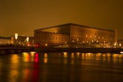 Año Nuevo sueco del palacio real y decoración de la Navidad Fotografía de archivo