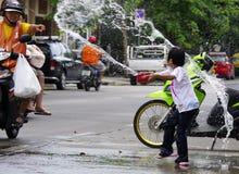 Año Nuevo tailandés de Songkarn - festival del agua Imagen de archivo libre de regalías