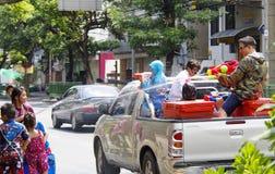 Año Nuevo tailandés de Songkarn - festival del agua Foto de archivo libre de regalías