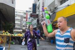 Año Nuevo tailandés del día de Songkran Foto de archivo libre de regalías