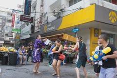 Año Nuevo tailandés del día de Songkran Imagen de archivo libre de regalías