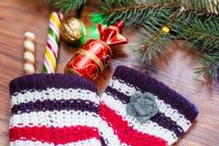 Año Nuevo, tarjeta de Navidad Fotos de archivo