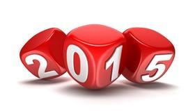 Año Nuevo 2015 (trayectoria de recortes incluida) Fotografía de archivo libre de regalías