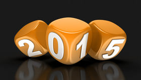Año Nuevo 2015 (trayectoria de recortes incluida) Imágenes de archivo libres de regalías