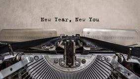 Año Nuevo nuevo usted mensaje mecanografiado Fotos de archivo