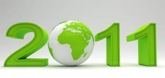 Año Nuevo verde Imagen de archivo libre de regalías