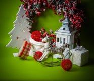 Año Nuevo verde Fotos de archivo libres de regalías