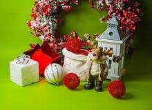 Año Nuevo verde Foto de archivo libre de regalías