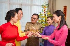 ¡Año Nuevo vietnamita feliz! Foto de archivo libre de regalías