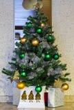 Año Nuevo y árbol de Navidad Imagen de archivo