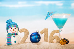 Año Nuevo y cóctel Fotos de archivo libres de regalías