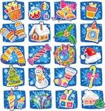 Año Nuevo y conjunto de la Navidad Fotografía de archivo libre de regalías
