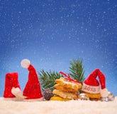 Año Nuevo 2015 y decoración de la Navidad Imagen de archivo libre de regalías