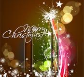 Año Nuevo y diseño colorido de la Navidad Imagen de archivo libre de regalías