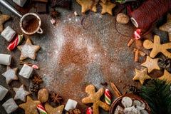 Año Nuevo y dulces de la Navidad Fotografía de archivo