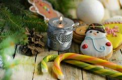 Año Nuevo y dulces de la Navidad Imagen de archivo