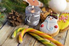 Año Nuevo y dulces de la Navidad Foto de archivo