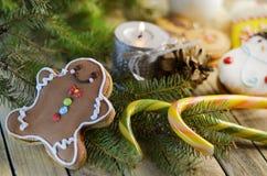Año Nuevo y dulces de la Navidad Fotos de archivo