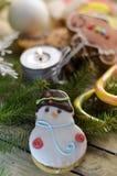 Año Nuevo y dulces de la Navidad Fotografía de archivo libre de regalías
